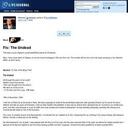 vc_fanfiction: Fic: The Undead