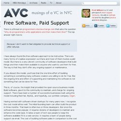 Free Software, Paid Support