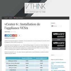 vCenter 6 : Installation de l'appliance VCSA