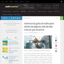 Veamos las guías de estilo para diseño de páginas web de diez marcas que amamos