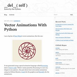 Vector animations with Python - __del__( self )