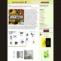 Grunge Paint Splatter Design Vectors