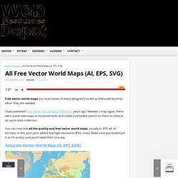 All Free Vector World Maps (AI, EPS, SVG)