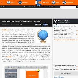 WebCode : un éditeur vectoriel pour sites web