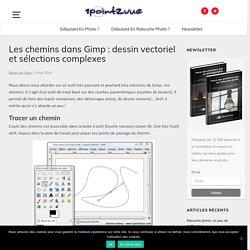 Les chemins dans Gimp: dessin vectoriel et sélections complexes