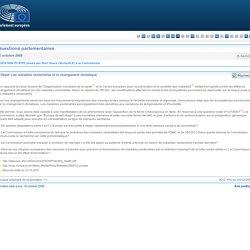 PARLEMENT EUROPEEN - Réponse à question E-5443/08 Les maladies vectorielles et le changement climatique