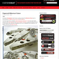 Papercraft Millennium Falcon – VECTORVAULT - Free Vector Downloads & Vector Art from Around the World