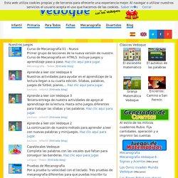 Vedoque - Juegos educativos gratis, fichas y otros materiales educativos