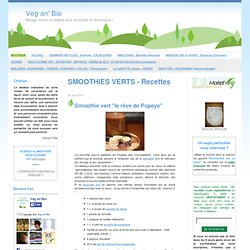 SMOOTHIES VERTS - Recettes