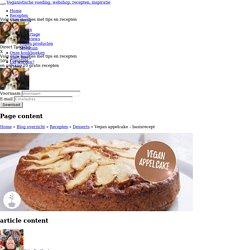 Vegan appelcake - basisrecept
