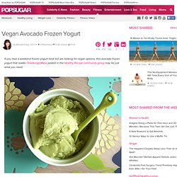 Vegan Avocado Frozen Yogurt