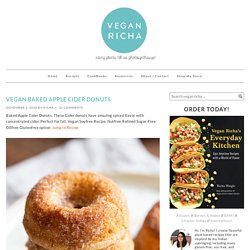 Vegan Baked Apple Cider Donuts - Vegan Richa