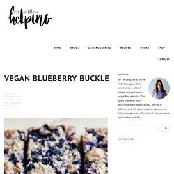 Vegan Blueberry Buckle