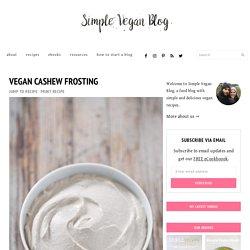 Vegan Cashew Frosting