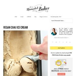 Vegan Chai Ice Cream