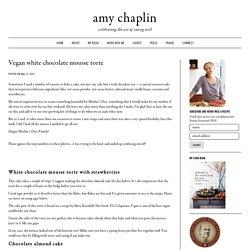 Vegan white chocolate mousse torte - Amy Chaplin