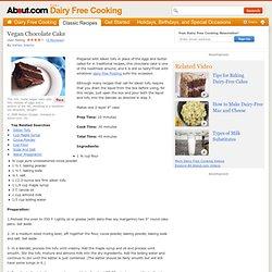 Vegan Chocolate Cake Recipe - Vegan Dairy Free Chocolate Cake