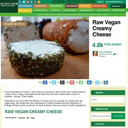 Raw Vegan Creamy Cheese