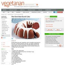 Vegan Red Devil Beet Bundt Cake