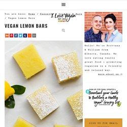 Vegan Lemon Bars » I LOVE VEGAN
