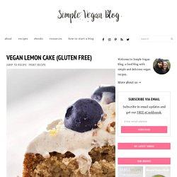 Vegan Lemon Cake (Gluten Free)