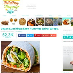 Vegan Lunchbox: Easy Hummus Spiral Wraps
