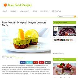 Raw Vegan Magical Meyer Lemon Tarts ( & avocado)