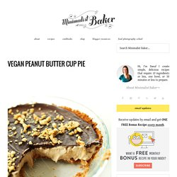 Vegan Peanut Butter Cup Pie