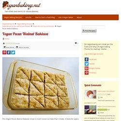 Vegan Pecan Walnut Baklava