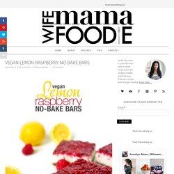 Vegan Lemon Raspberry No-Bake Bars