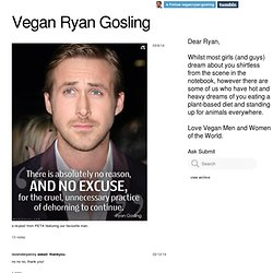 Vegan Ryan Gosling