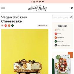 Vegan Snickers Cheesecake
