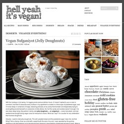 Vegan Sufganiyot (Jelly Doughnuts)