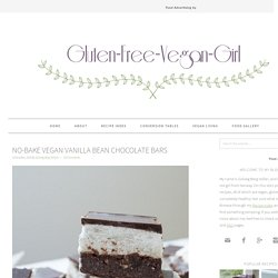 No-Bake Vegan Vanilla Bean Chocolate Bars
