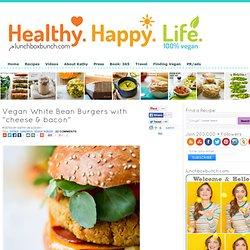 "Vegan White Bean Burgers with ""cheese & bacon"""