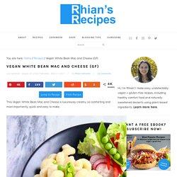 Vegan White Bean Mac and Cheese (GF)