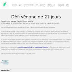Défi végane de 21 jours « Festival végane de Montréal