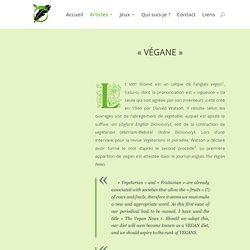 Végane — Les mots du végétarisme