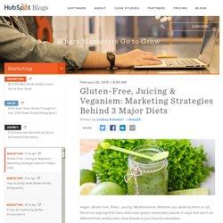 Gluten-Free, Juicing & Veganism: Marketing Strategies Behind 3 Major Diets