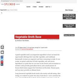 Vegetable Broth Base