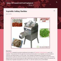 Vegetable Cubing Machine