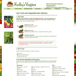 Kelly's Vegies - Fruit & Vegetable Home Delivery South England