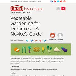 Vegetable Gardening for Beginners - RedShed