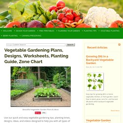 Vegetable Gardening Plans & Designs for an Indoor or Outdoor Garden