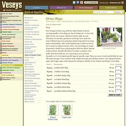 Vegetable Grow Bags - Veseys
