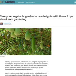 Take your vegetable garden to new heights with these 5 tips about arch gardening