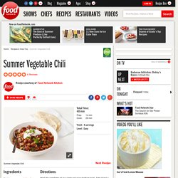 Summer Vegetable Chili Recipe