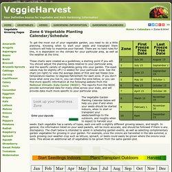 Zone 6 Vegetable Planting Calendar
