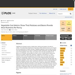 PLOS ONE: Vegetable Cost Metrics Show That Potatoes and Beans Provide Most Nutrients Per Penny