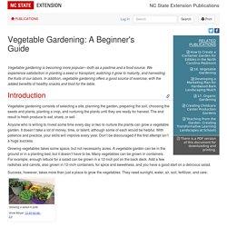 Vegetable Gardening: A Beginner's Guide